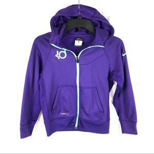 Nike therma fit fleece lined full zip KD hoodie
